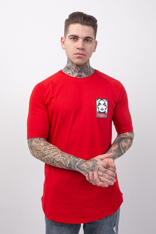 Ανδρικό κοντομάνικο μπλουζάκι κόκκινο TS207