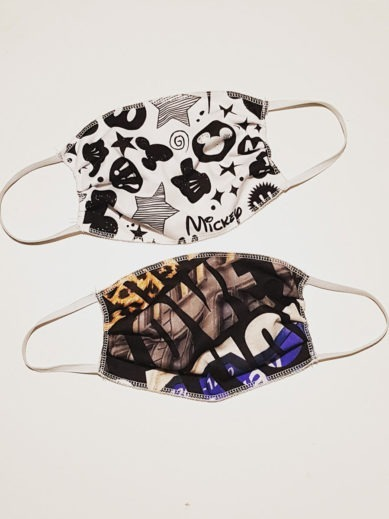Προστατευτικές υφασμάτινες μάσκες σε πακέτο δυο τεμαχίων σε δυο διαφορετικά σχέδια