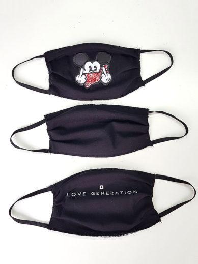 Μάσκες υφασμάτινες για προστασία σε πακέτο τριών τεμαχίν σε τρία διαφορετικά σχέδια