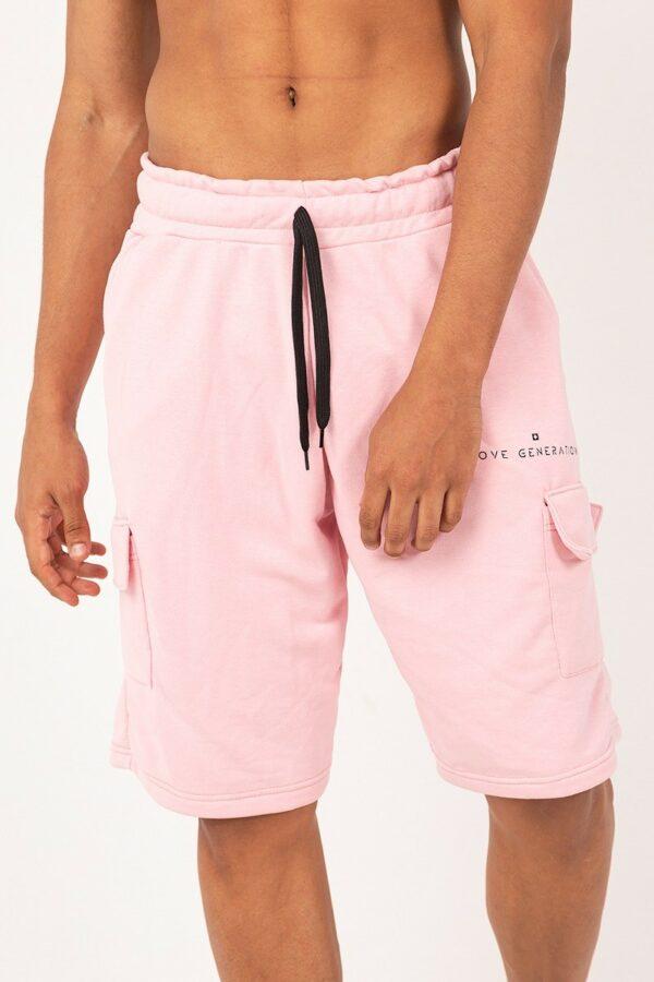 Ανδρική αθλητική βερμούδα ροζ S209