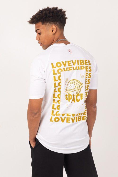 Ανδρικό κοντομάνικο μπλουζάκι λευκό TS208G