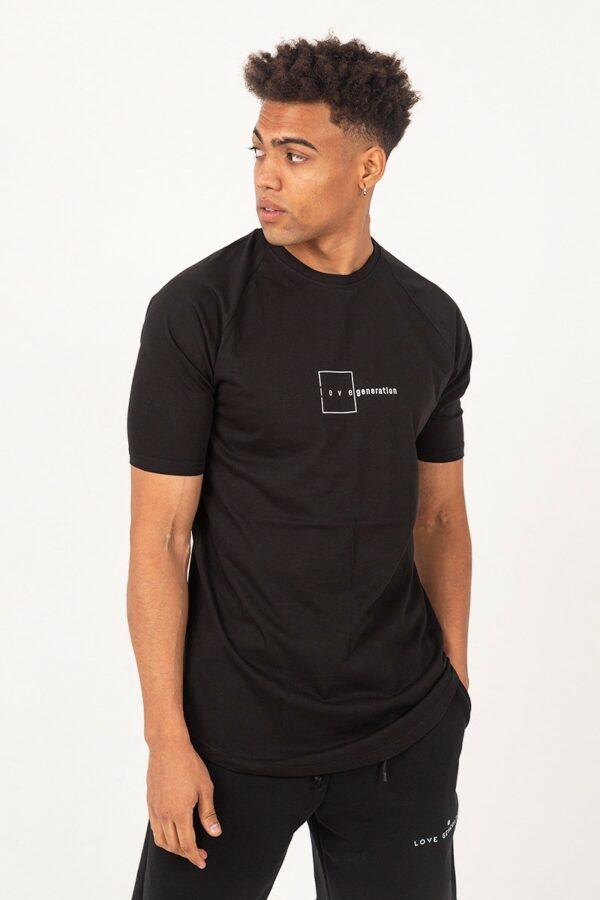 Ανδρικό κοντομάνικο μπλουζάκι μαύρο TS225