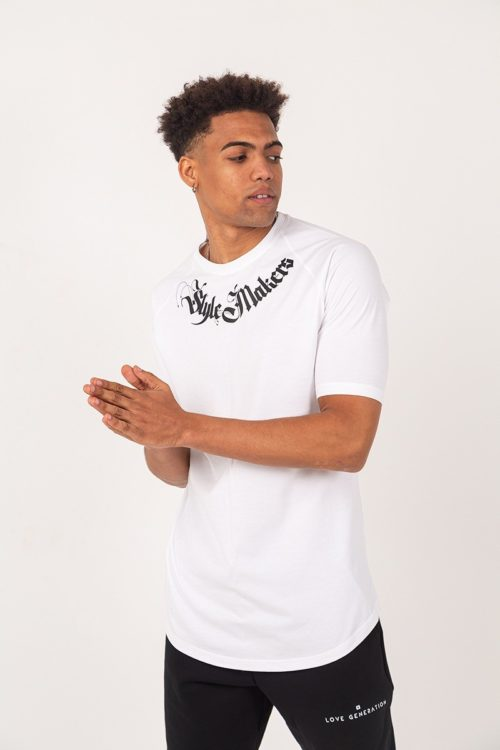 Ανδρικό κοντομάνικο μπλουζάκι λευκό TS226