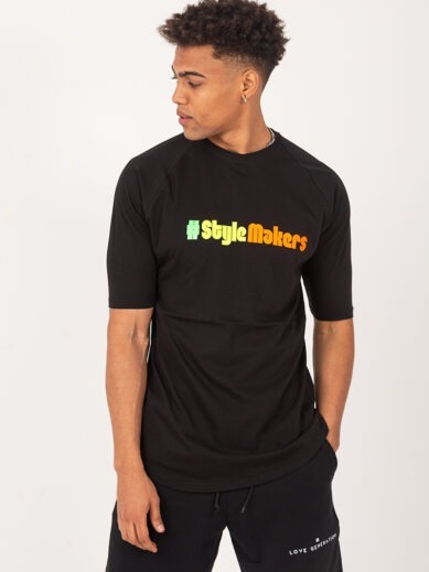Ανδρικό κοντομάνικο t-shirt σε μαύρο χρώμα με vinyl στάμπα TS232