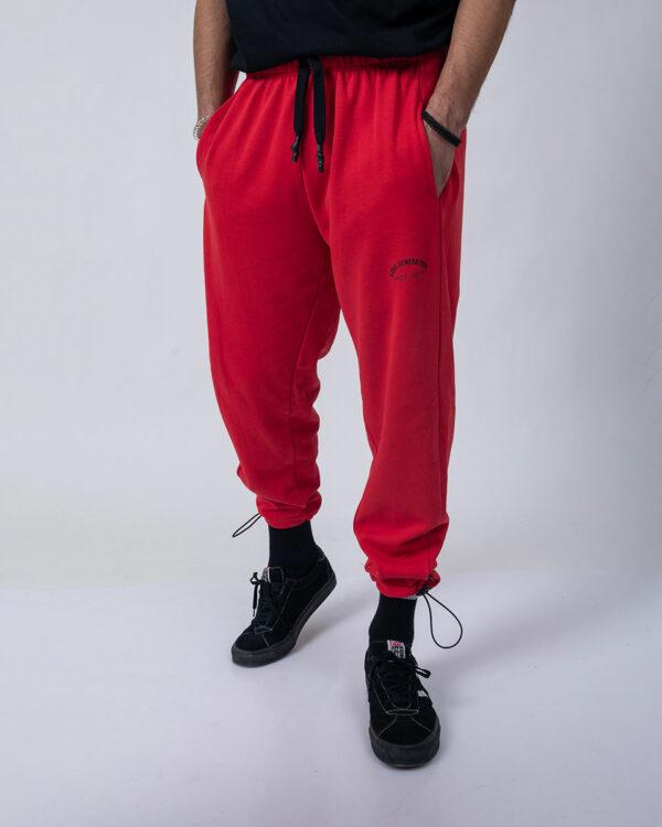 Ανδρική αθλητική φόρμα σε κόκκινο χρώμα με στάμπα Love Generation